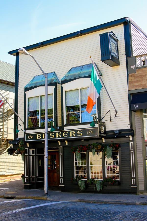 Buskers Pub, Newport, RI imágenes de archivo libres de regalías