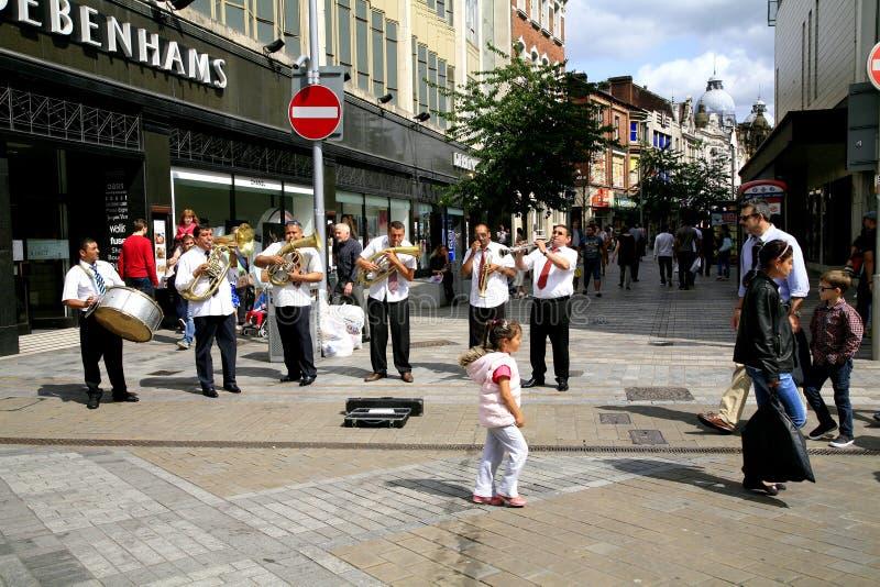 Busking Band der Straße lizenzfreie stockfotografie