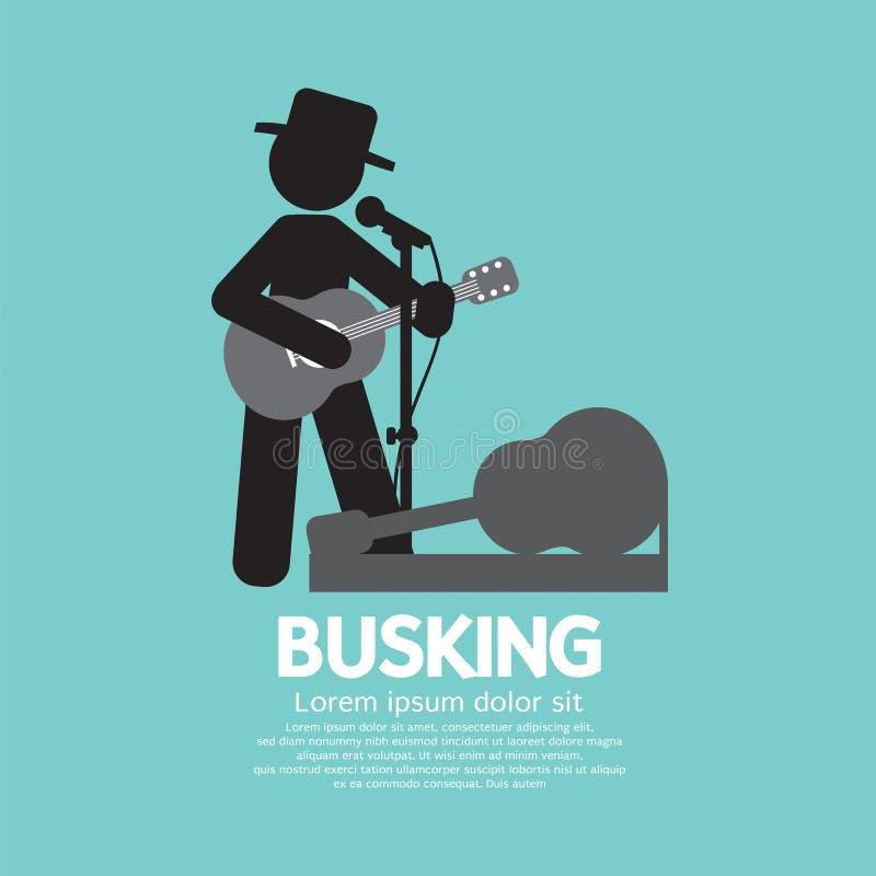 Busking, Uliczny występu symbol royalty ilustracja