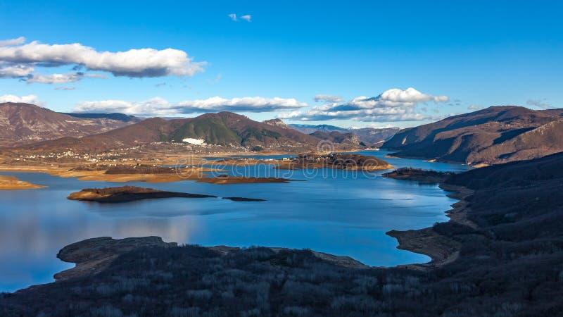 冻Busko湖 免版税图库摄影