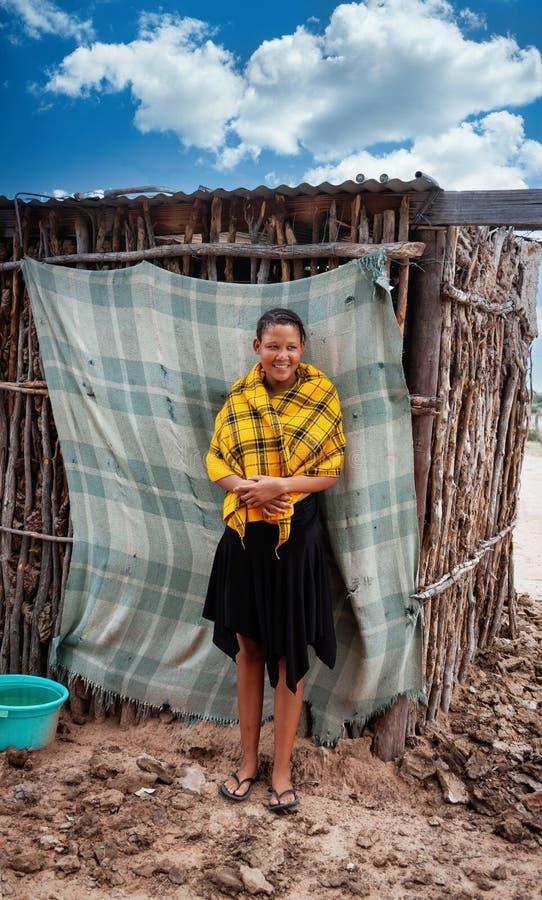 Busman, ung kvinna royaltyfri foto