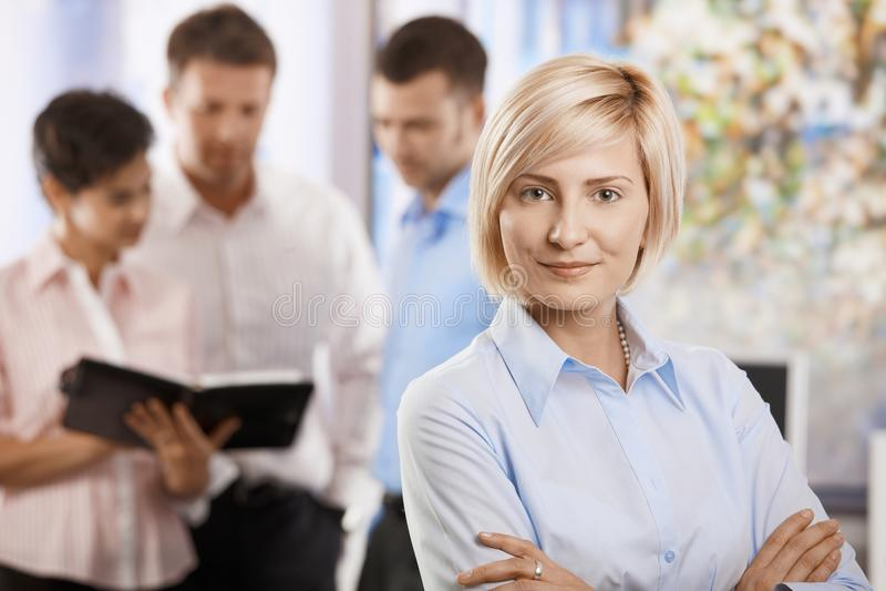 Busnesswoman in bureau royalty-vrije stock afbeelding