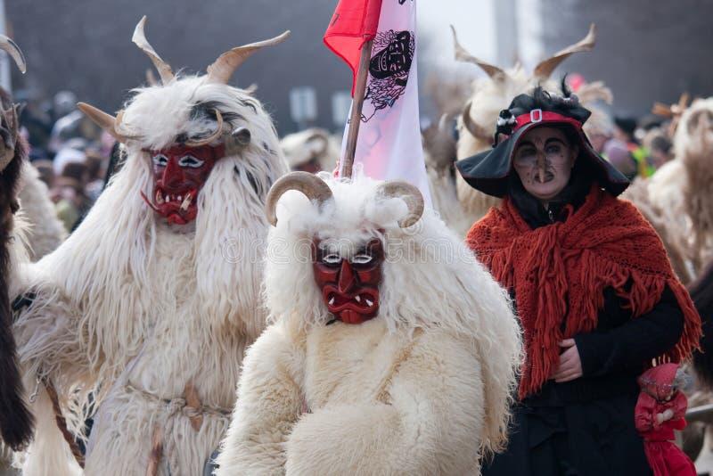 Busojaras Karneval stockfotografie