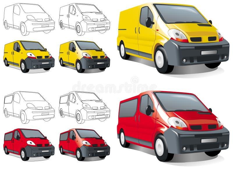 buss货物微型小客车 向量例证