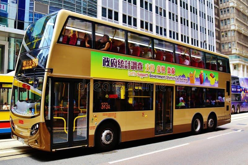 buss Hong Kong royaltyfri bild