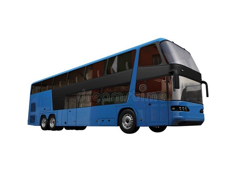 buss isolerad sikt vektor illustrationer