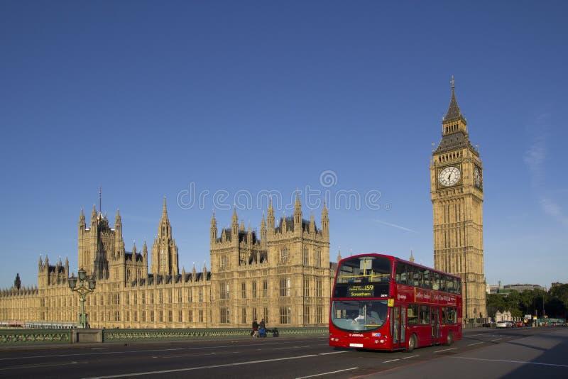 buss london royaltyfria bilder