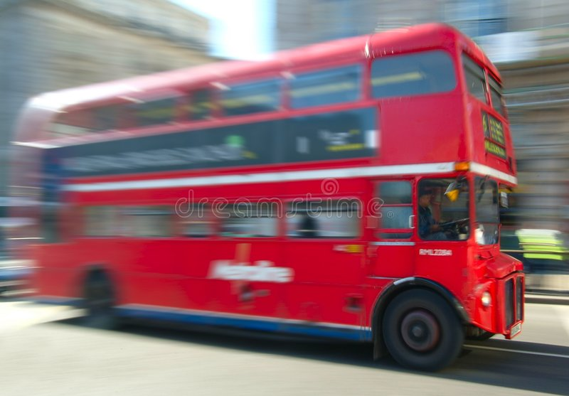 buss london royaltyfri fotografi