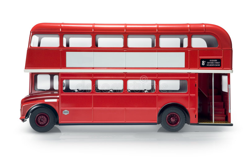 buss london arkivbild