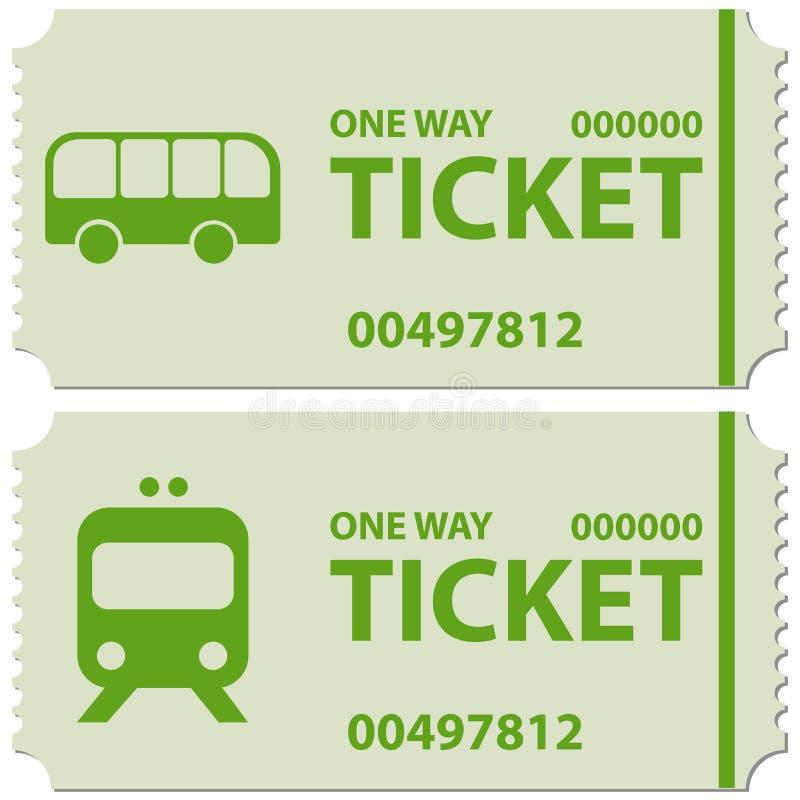 Buss- och drevbiljetter fotografering för bildbyråer