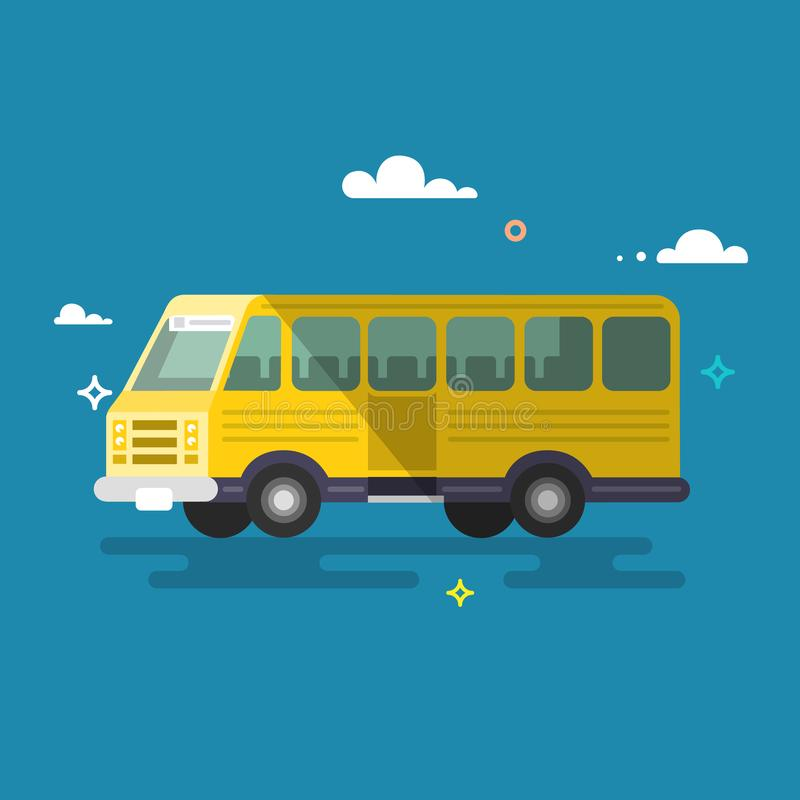 buss Plan design stock illustrationer