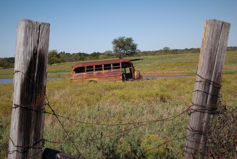Buss som endast parkerar arkivbild