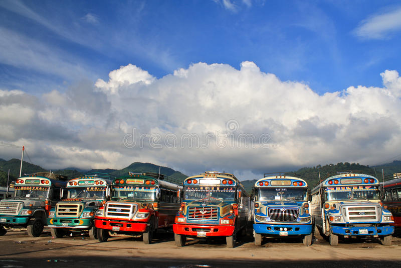 bussar blir rädd guatemalan royaltyfria foton