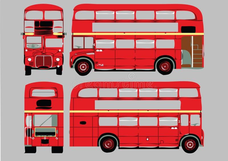bussdäckaredouble stock illustrationer