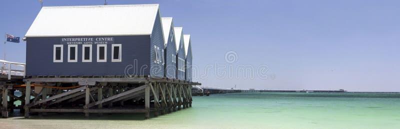 Busselton跳船西部澳大利亚全景  库存图片