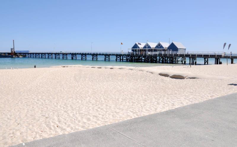 Busselton Jetty i plaża, zachodnia australia fotografia stock