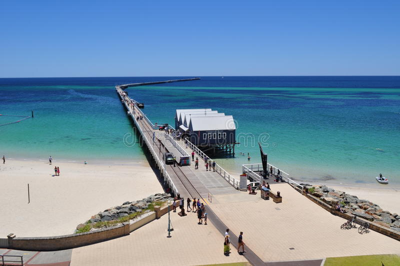 Busselton Jetty mola zachodnia australia zdjęcia stock