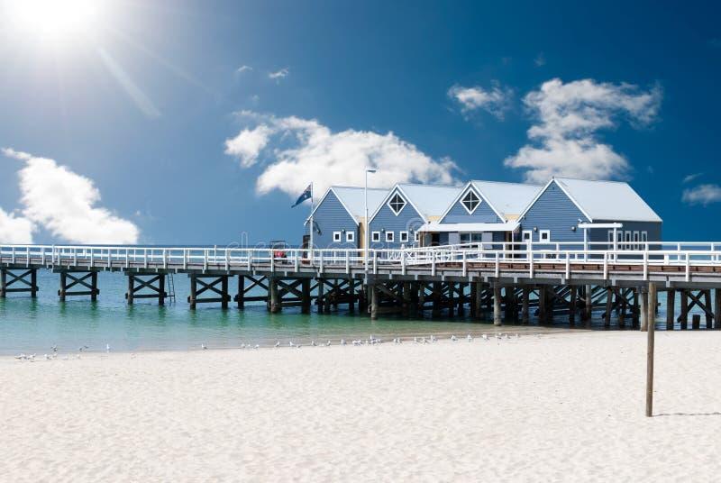 Busselton jetty w zachodniej australii zdjęcia stock