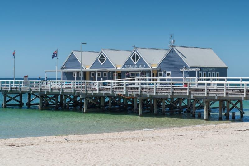 Busselton Jetty, zachodnia australia zdjęcia royalty free