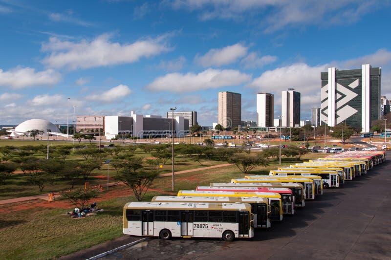 Bussen in Brasilia royalty-vrije stock fotografie