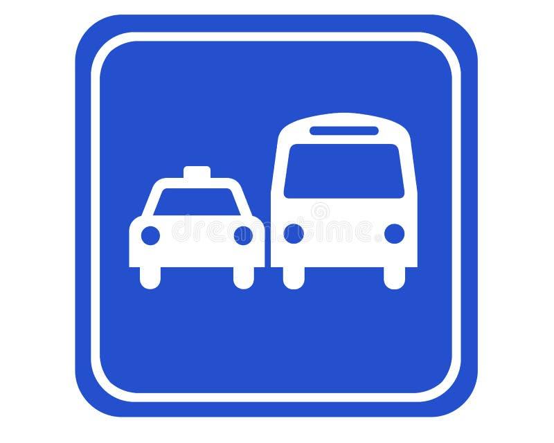 bussen taxar royaltyfri illustrationer