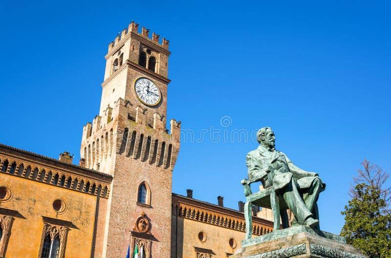 Busseto, de geboorteplaats van Giuseppe Verdi stock afbeelding