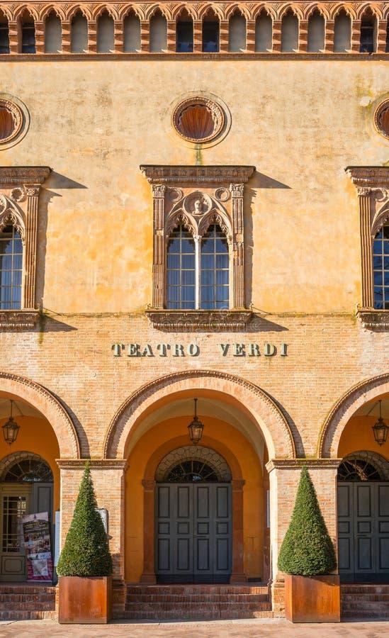 Busseto, de geboorteplaats van Giuseppe Verdi stock fotografie