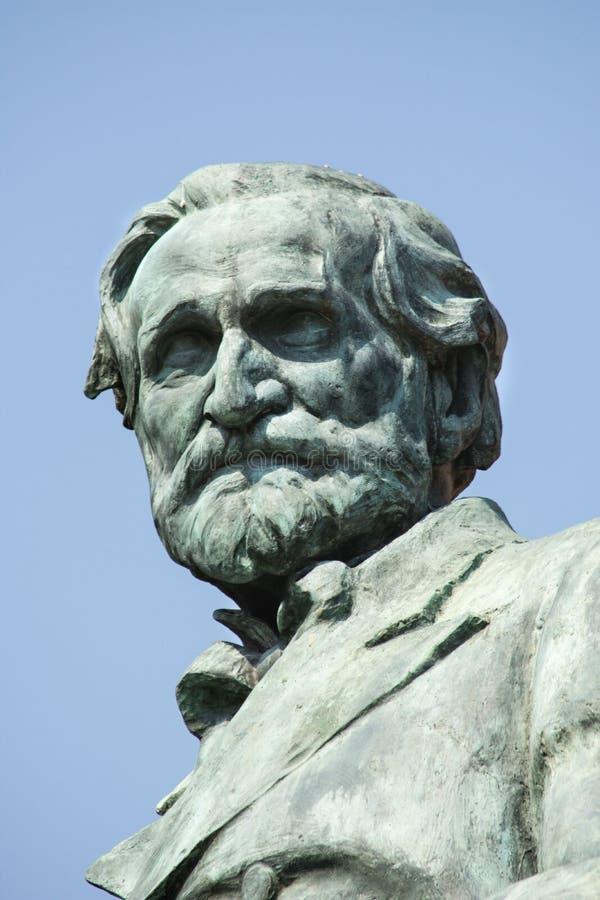 Busseto, Parma, Italië, Giuseppe Verdi Statue, 30 Juli, 2016 royalty-vrije stock afbeelding