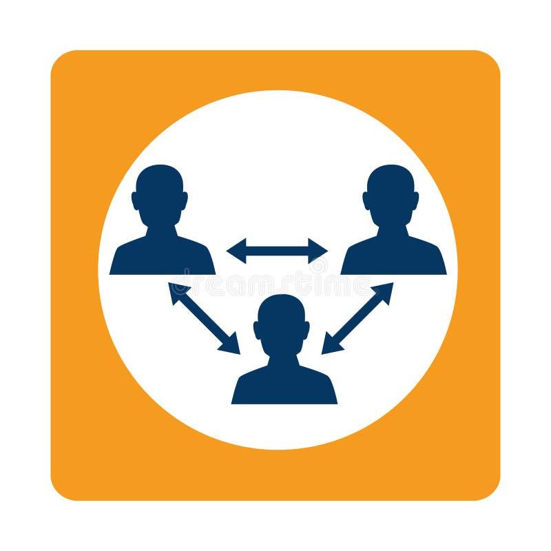 bussines的方形的配合在会议 皇族释放例证