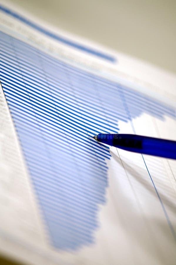 bussines绘制财务图表 图库摄影