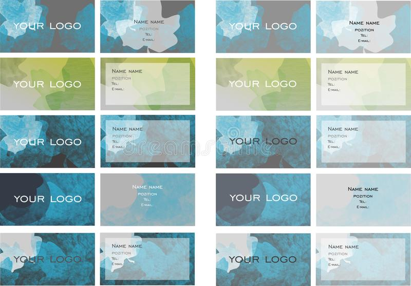 Bussines card stock photography