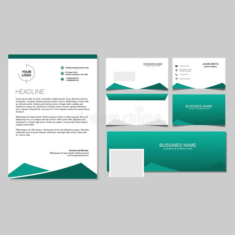 Green Corporate Identity Set Template Vector And Envalop,bussines