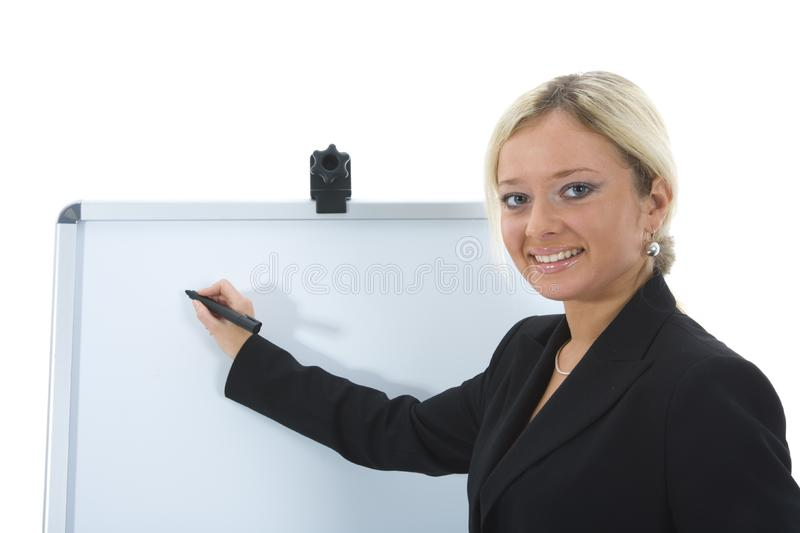 Bussines woman working royalty free stock photography
