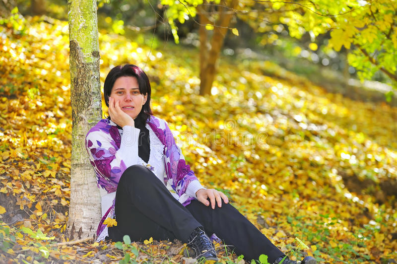 Bussines Women In Park Royalty Free Stock Photography