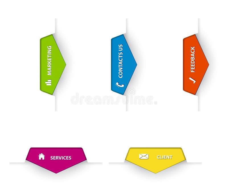 bussinesfärgflikar stock illustrationer