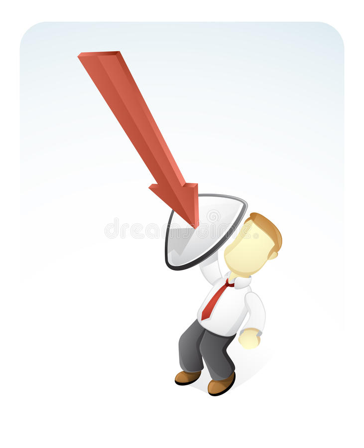 Download Bussinesman Is Avoiding The Pressure Stock Illustration - Image: 25220889