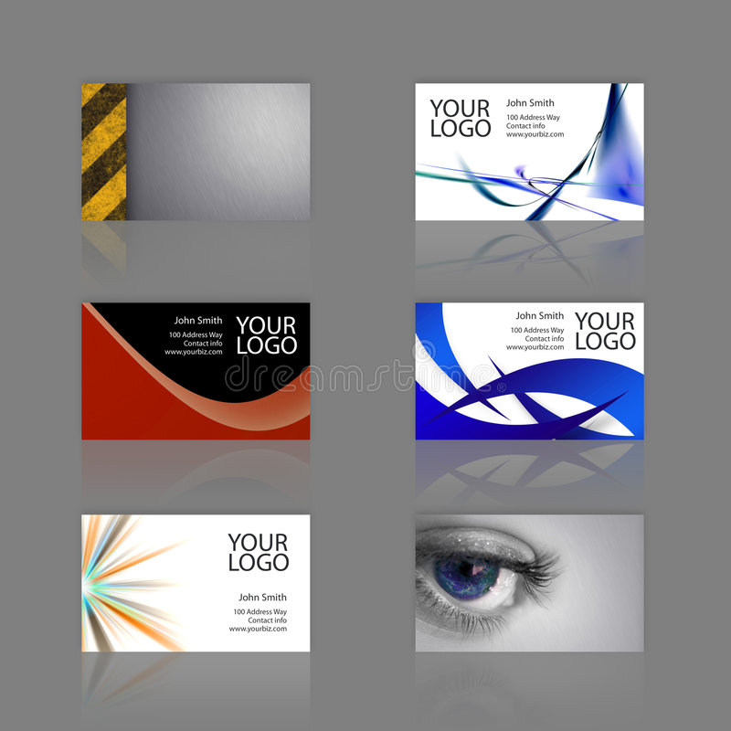 Download Bussiness Card Assortment stock illustration. Illustration of editable - 5583275