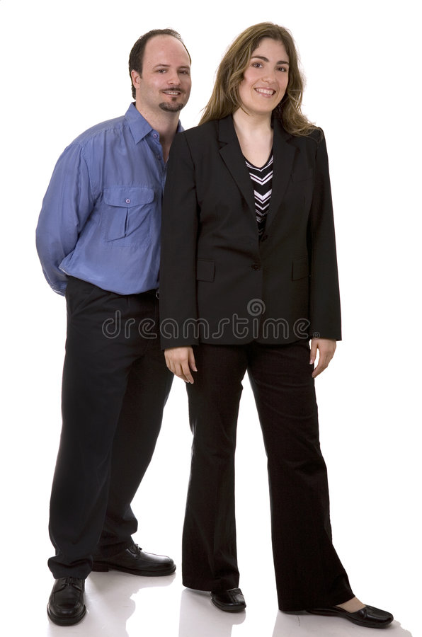 Bussiness couple royalty free stock photography