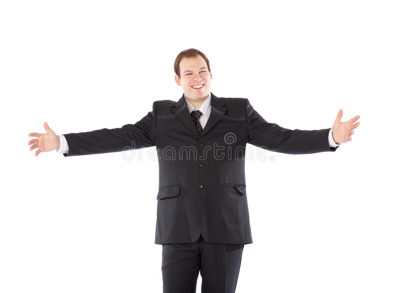 Bussiness Man Arms Outstretched Royalty Free Stock Image