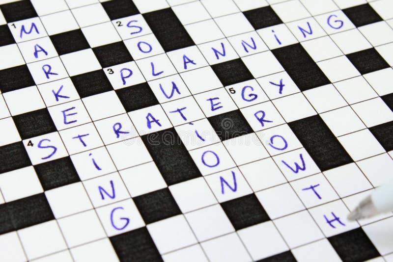bussiness pojęcia crossword marketing fotografia stock