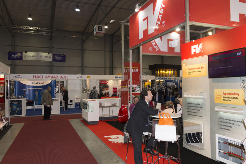Bussinessman At AquaTherm 2012 In Prague Editorial Photography