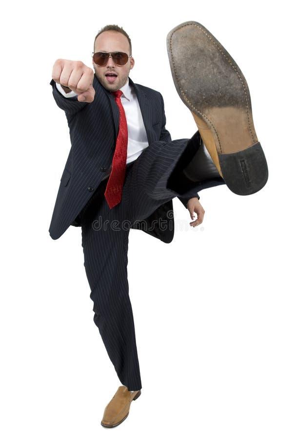 Bussinessman avec le procès image stock