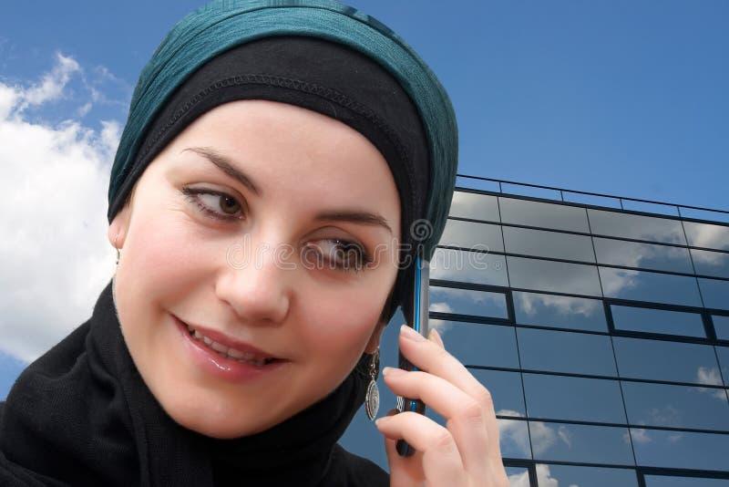 bussinessmuslimkvinna royaltyfri bild