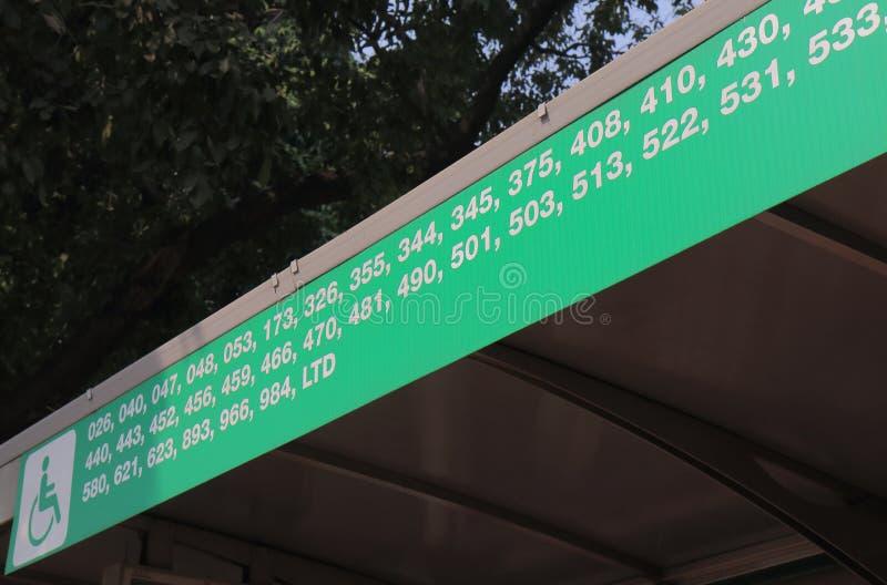 Busskollektivtrafik New Delhi Indien royaltyfri fotografi