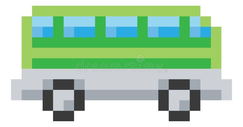 Busslagledaren Pixel 8 bet videospelet Art Icon vektor illustrationer