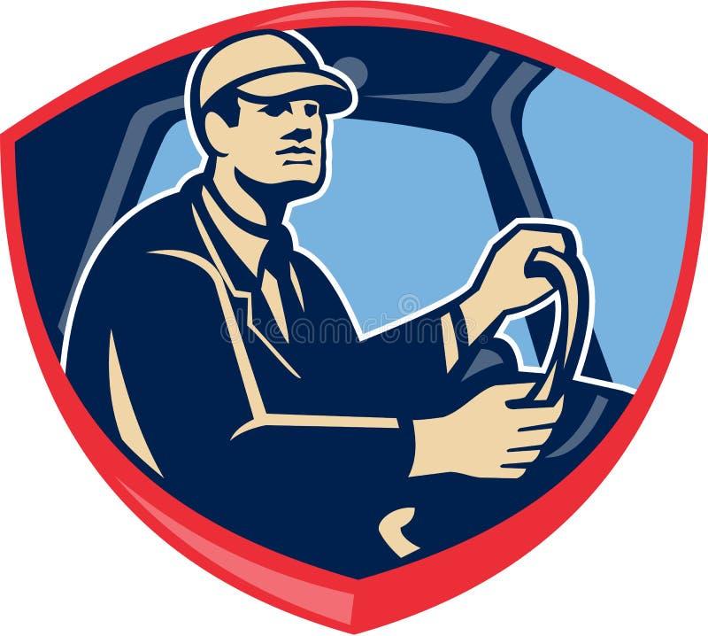 Busslastbilsförare Side Shield royaltyfri illustrationer