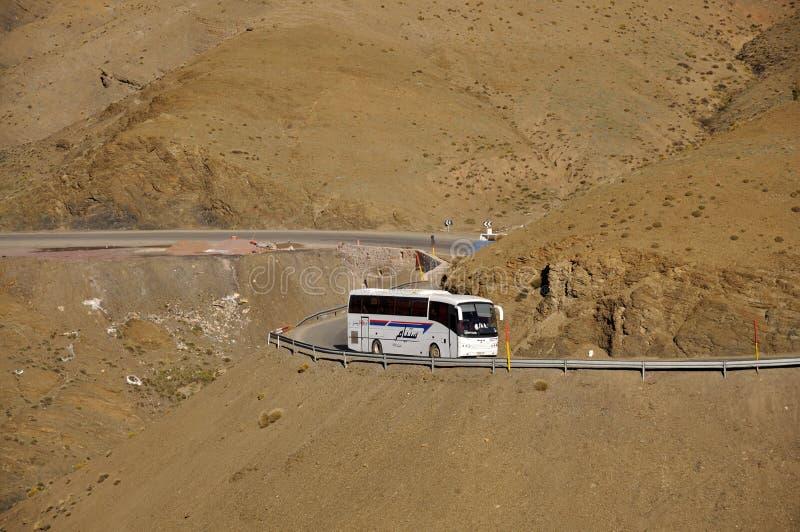 bussmorocco berg arkivbilder