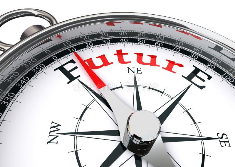 Bussola concettuale di orientamento futuro illustrazione vettoriale