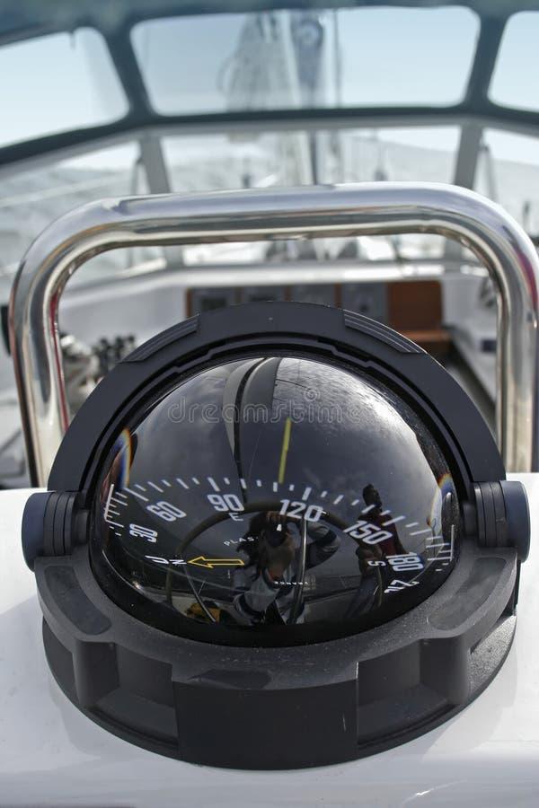 Bussola dell'yacht fotografia stock libera da diritti