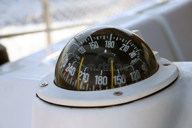 Bussola dell'yacht fotografie stock